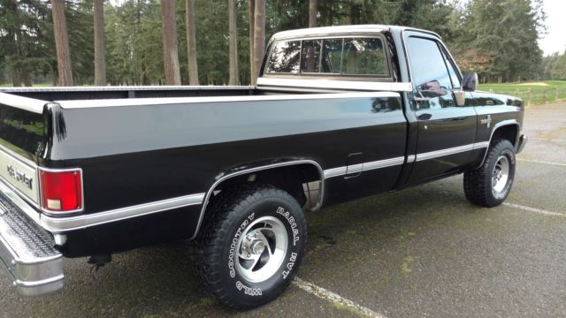 1983 chevy 1500 silverado 4x4 original owner worldwide no reserve for sale chevrolet. Black Bedroom Furniture Sets. Home Design Ideas
