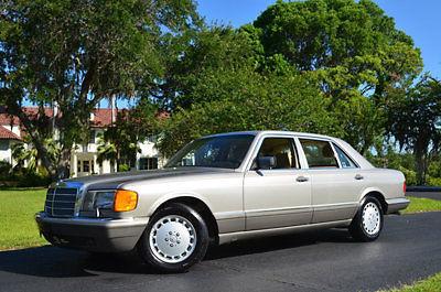 1 Florida Owner 53K Miles 1991 Mercedes 560 SEL Sedan MB Dealer