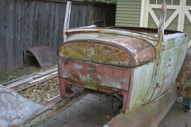 1928 1929 Ford Model A Sport Coupe Barn Find Patina Jalopy TROG Hot