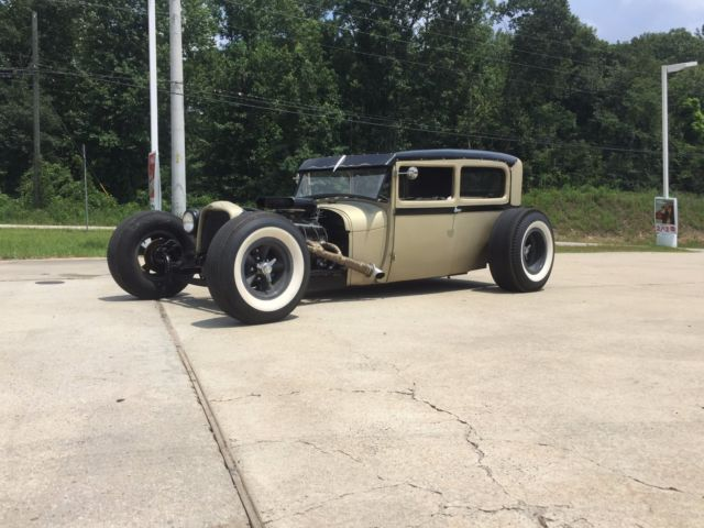 1929 Ford Model A Tudor Sedan Chopped Hot Rod Rat Rod