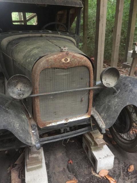 1929 Model A Ford 2 Door Sedan Motor Transmission New Glass Parts Manuels Poster For Sale Ford