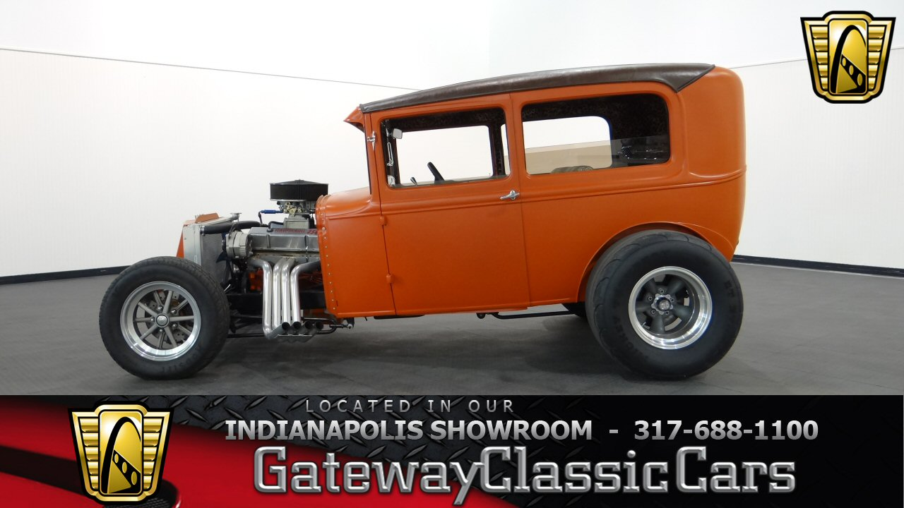 1930 Ford Model A 2421 Miles Flat Orange Coupe 454 CID Small Block ...
