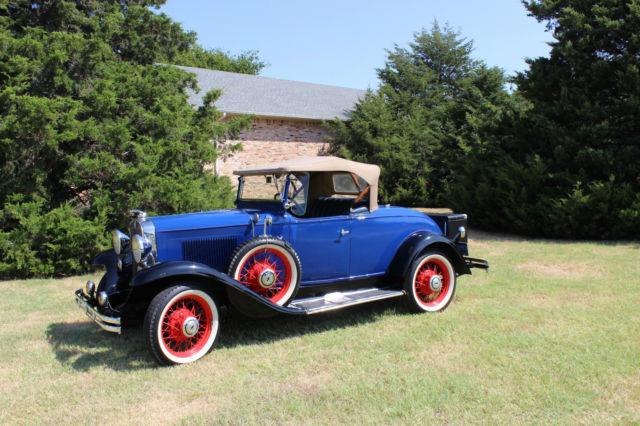 1931 chevrolet ae independence roadster restored 3 speed. Black Bedroom Furniture Sets. Home Design Ideas