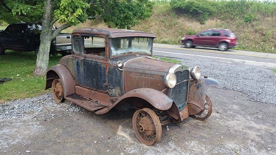1931 Ford Model A Deluxe Rumble Seat Coupe Barn Find
