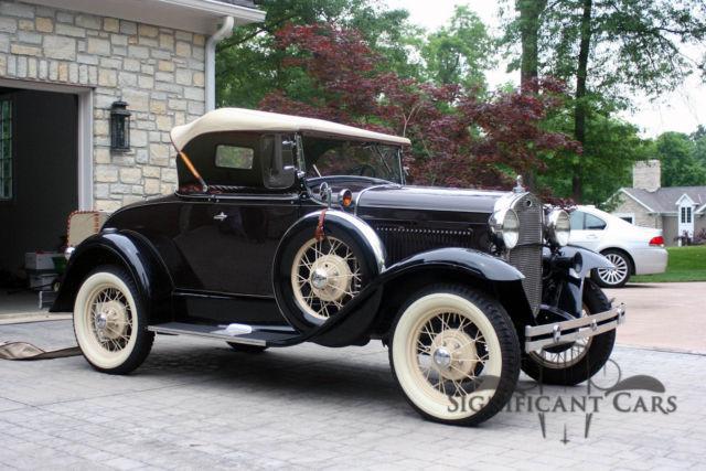 1931 ford roadster exceptional restoration for sale ford other 1931 for sale in cincinnati. Black Bedroom Furniture Sets. Home Design Ideas
