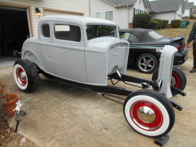 1932 Ford Five Window Coupe New Fiberglass Body Street