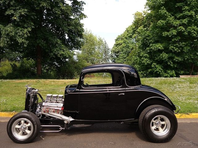 1933 Chevrolet 3 Window Coupe Steel Car 355 V8 Th350 Ps
