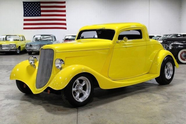 1933 ford 3 window coupe 346 miles yellow coupe 350ci v8 for 1933 3 window coupe for sale
