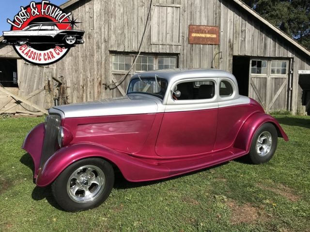 1933 ford 5 window coupe steel body 0 razzberry 350 v8 for 1933 ford 5 window coupe
