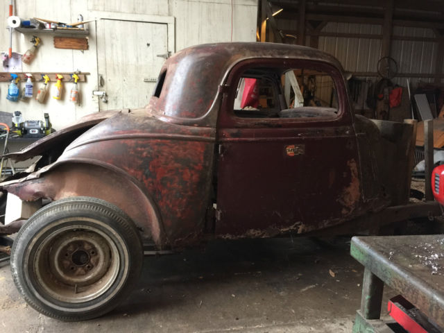 1934 Ford 3 Window Coupe Roller Original Henry Steel 3w