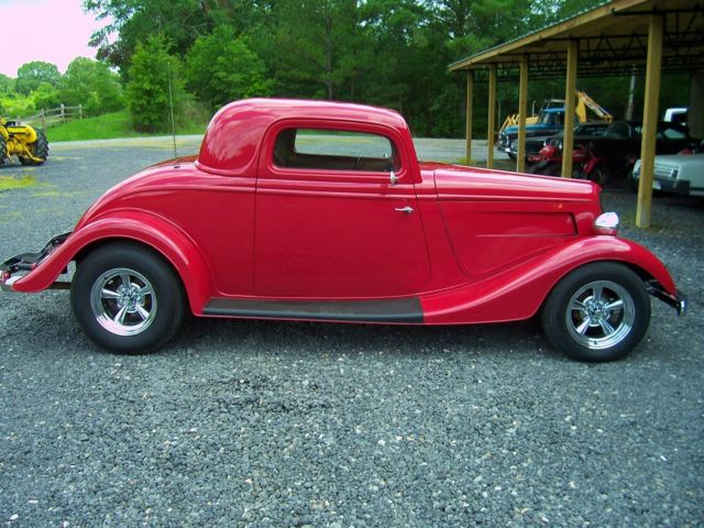 1934 ford 3 window coupe street rod no reserve for sale
