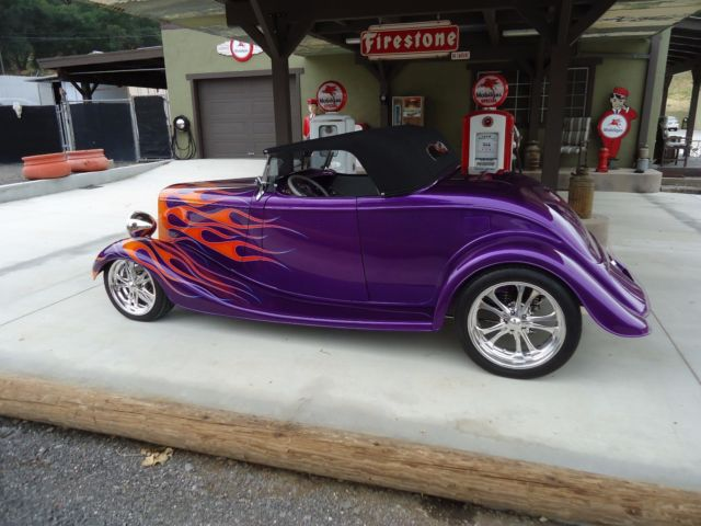 1934 ford coupe cabriolet roadster hot street rod boulevard cruiser show car for sale ford