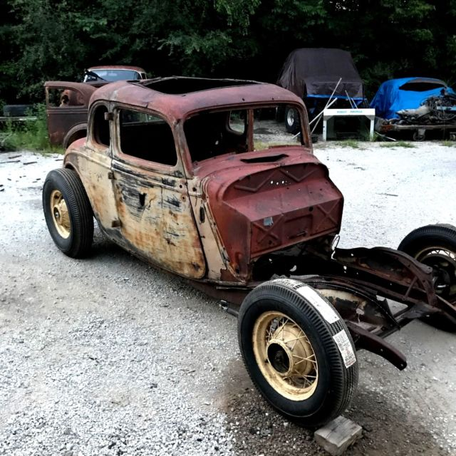 1934 Ford Five Window Coupe Hot Rod Rat Scta Model 40