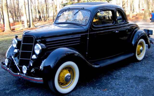 1935 ford 5 window coupe flathead v 8 supercharged 36korig for 1935 ford 5 window coupe for sale