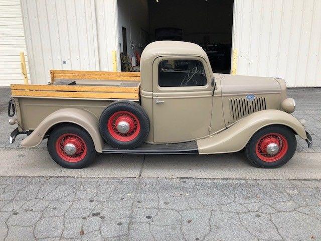 1935 ford all original pickup truck 1 2 ton hot street rod barn find patina for sale ford. Black Bedroom Furniture Sets. Home Design Ideas