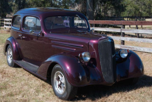 1936 chevy master sedan street rod new black cherry for 1936 chevy 2 door