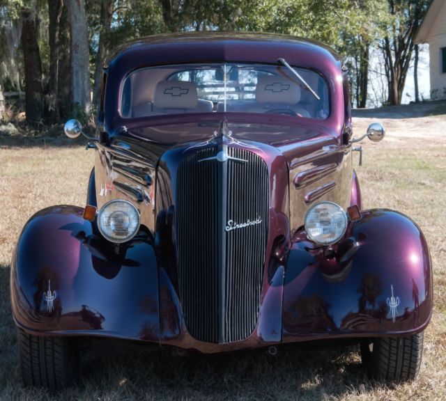 1936 chevy master sedan street rod new black cherry merlot paint new interior for sale. Black Bedroom Furniture Sets. Home Design Ideas