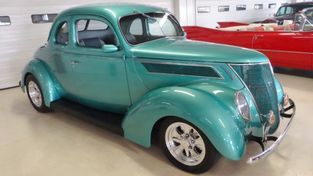 1937 ford coupe 22673 miles green 2 door hardtop 350ci for 1937 ford 2 door sedan for sale