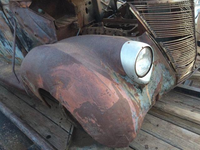 1937 ford tudor slantback sedan hot rod  rat rod project