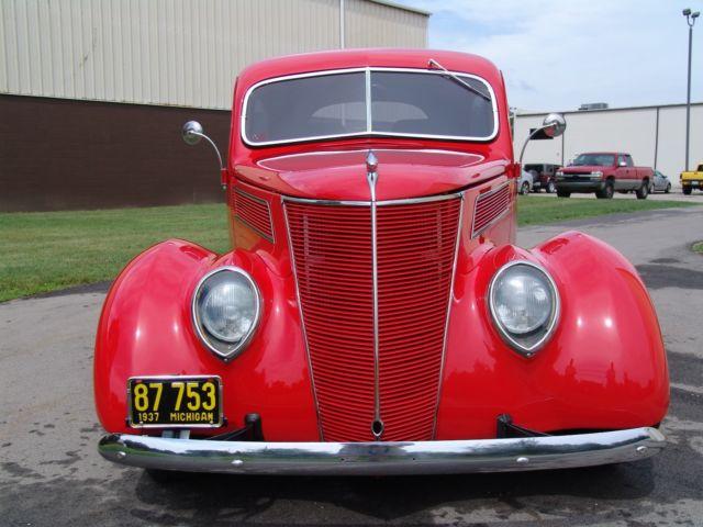 1937 ford two door sedan all steel with heidts mustang ii for 1937 ford 4 door sedan for sale