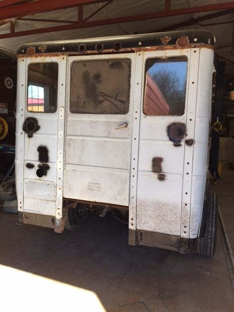 1937 Ford Vintage Wayne School Bus Body Rolling