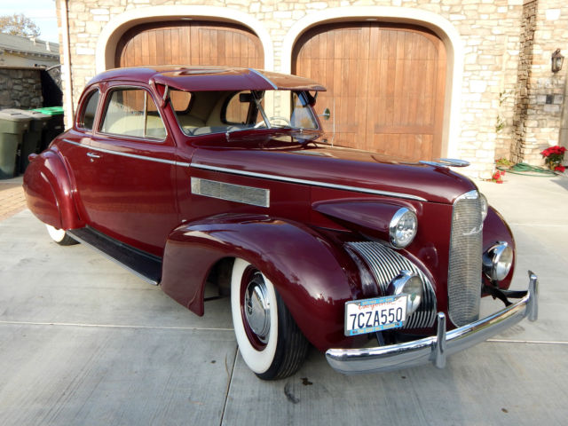 1939 Cadillac Lasalle 5 Window Coupe Restored For Sale