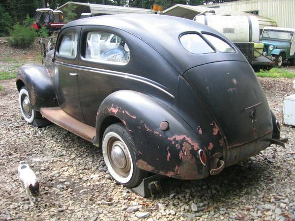 1939 ford tudor deluxe project for sale