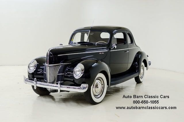 1940 Ford Deluxe 41819 Miles Black Coupe 221 Ci 3 Spd
