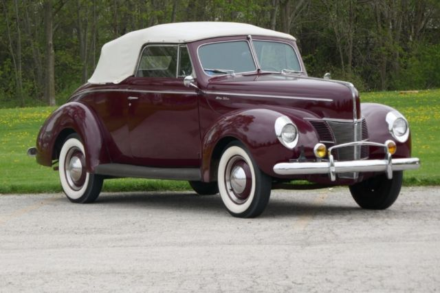 1940 Ford Deluxe Numbers Matching Original Convertible