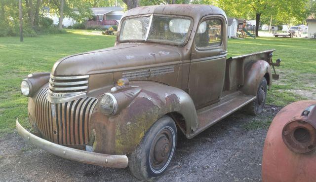 1946 Chevrolet Truck, Barn Find, Rat Rod for sale ...