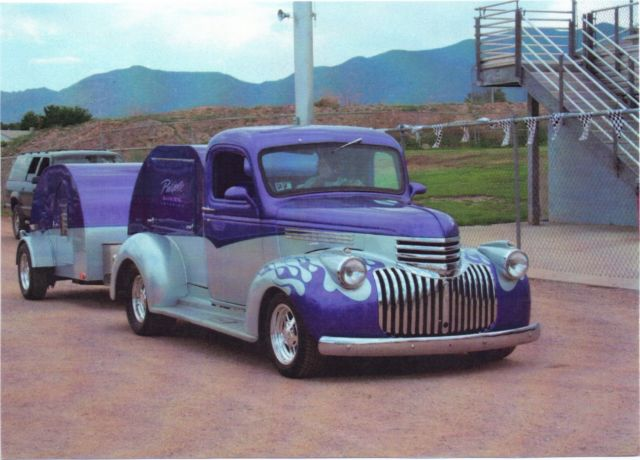 1946 Chevy Truck with Matching Teardrop Trailer for sale