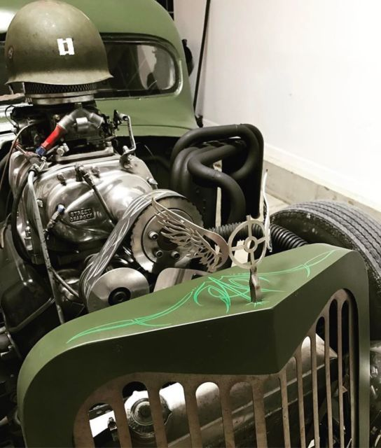 327 Chevy Blower Pistons: 1946 Dodge WW2 Military RAT ROD!!!! BLOWN!!! CHOPPED