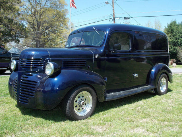 1947 dodge bros panel truck street rod 383 c i torqueflite nice cond video for sale. Black Bedroom Furniture Sets. Home Design Ideas