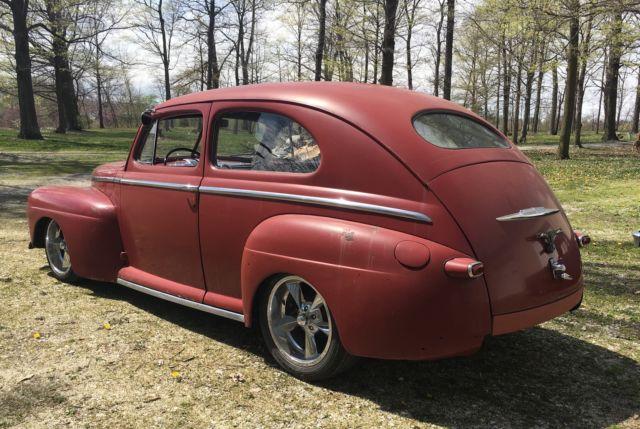 1947 ford two door tudor sedan hot rod street rod rat rod