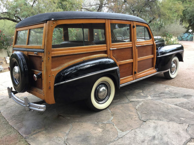 1947 ford wood station wagon nice example of early ford wagons a surivor for sale ford other. Black Bedroom Furniture Sets. Home Design Ideas