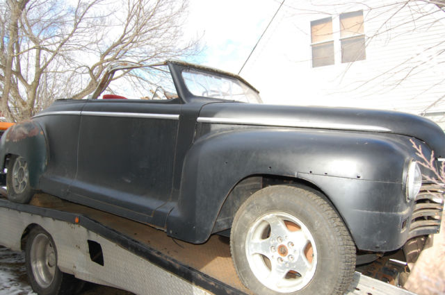 1947 Plymouth convertible street rod project 3in chopped top for