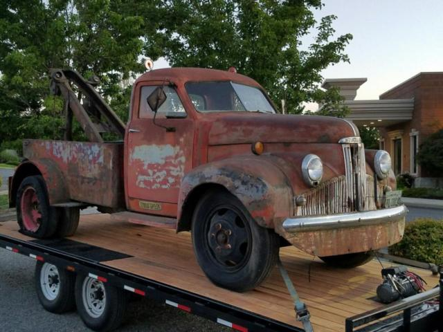 1947 studebaker vintage tow truck wrecker hot rat rod kustom coe drag style for sale. Black Bedroom Furniture Sets. Home Design Ideas