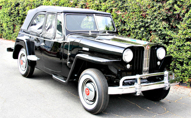 1948 1950 willys jeepster 6 cylinder 3 speed over drive restored california jeep for sale. Black Bedroom Furniture Sets. Home Design Ideas