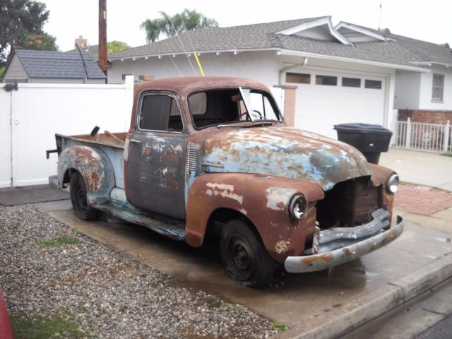 Northern California No Rust: 1948 Chevy Truck 3100 Shortbed Roller California No Rust