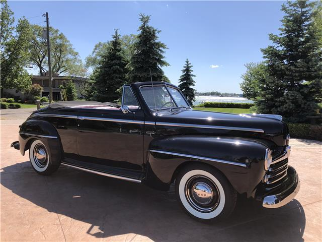 1948 ford super deluxe 0 miles black convertible 55 t bird. Black Bedroom Furniture Sets. Home Design Ideas