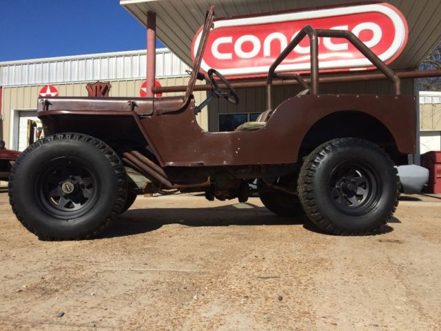 Willys Jeep V8 Conversion >> 1948 jeep willys cj2a 350 v8 conversion fiberglass tub military cj5 mud lifted for sale - Jeep ...
