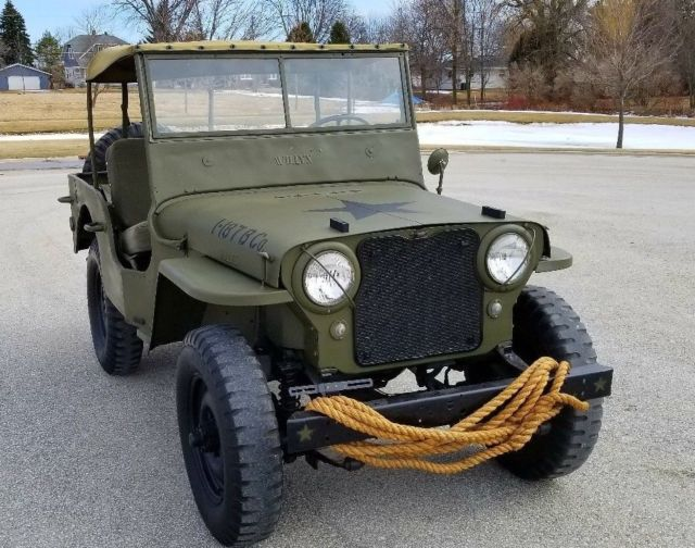 1948 WILLYS OVERLAND CJ2A JEEP 101ST AIRBORNE MILITARY PAINT NICE NO