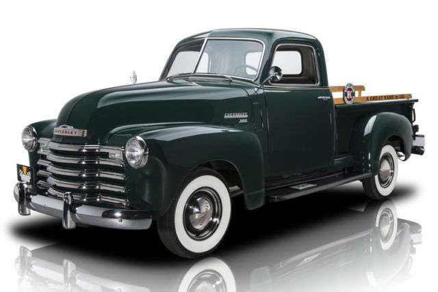 1949 chevrolet 3100 pickup truck 3037 miles forester green pickup truck 235 i6 4 for sale. Black Bedroom Furniture Sets. Home Design Ideas