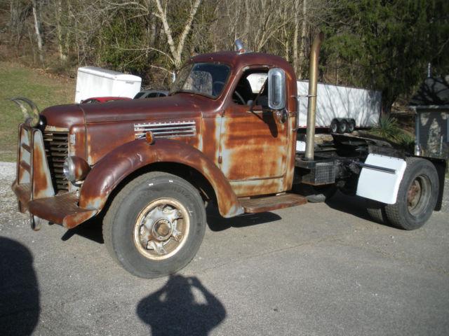 Antique International Harvester Semi Tractor : International kbr semi tractor truck rat rod for