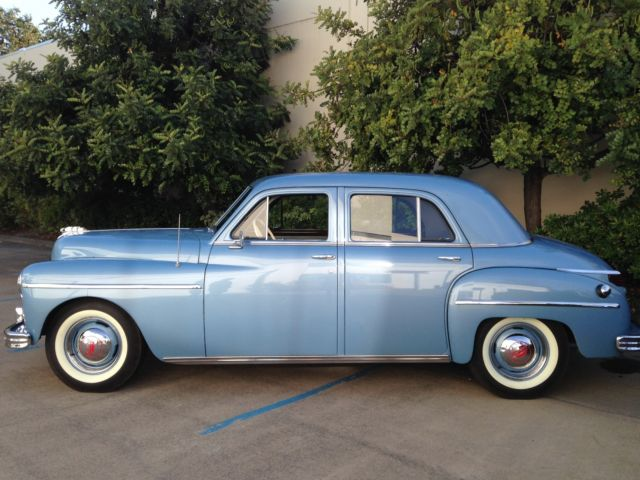 1949 plymouth deluxe 4 doors blue for sale plymouth