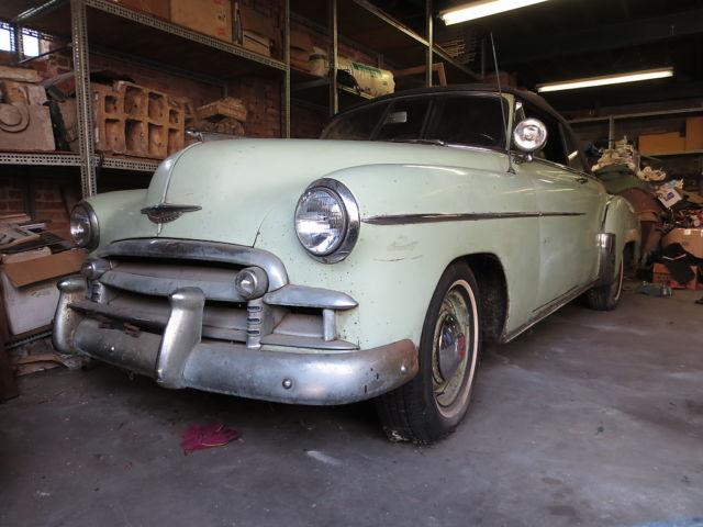 1950 Chevy Styleline Deluxe 2 Door Convertible 30000 Org