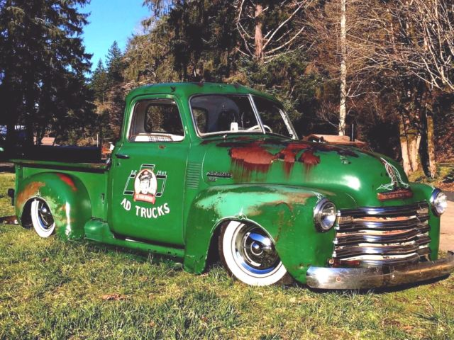 1950 CHEVY TRUCK 3100 BAGGED PATINA AIR RIDE NOT C/10 LOW ...