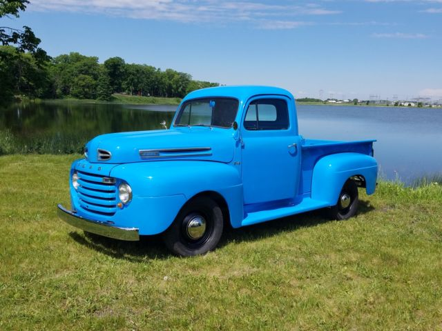 1950 ford f 1 pickup truck flathead v8 original restored f1 short box 1 2 ton for sale ford f. Black Bedroom Furniture Sets. Home Design Ideas