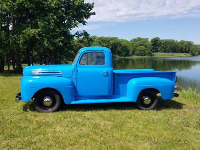 1950 ford f 1 pickup truck flathead v8 original restored f1 short box 1 2 ton for sale ford f. Black Bedroom Furniture Sets. Home Design Ideas