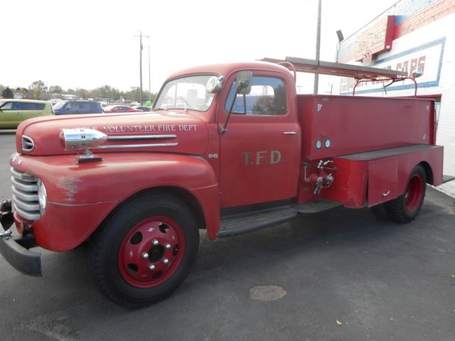 1950 ford f5 fire truck rare collectible truck in ebay for Ebay motors cars trucks